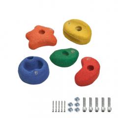 5 Lezecké kameny 90 mm barevné