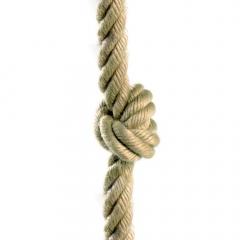 Šplhací lano s uzly, 26 mm